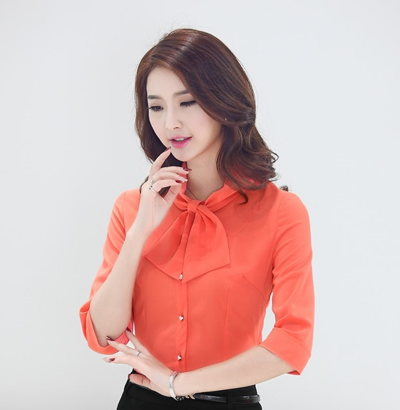 Unique  Ladies Office Shirts Work Wear Spring Women TopsChina Mainland