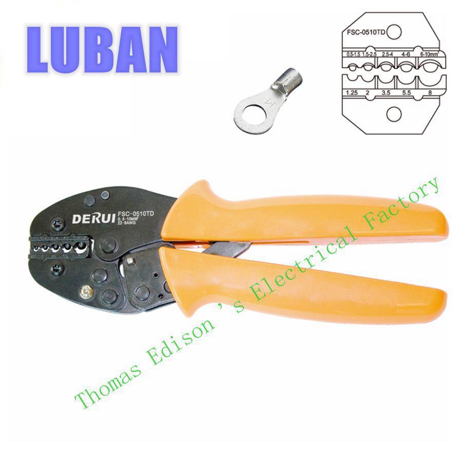 FSC-0510TD Super strength-saving mini-type crimping plier FSB SERIES CRIMPING PLIER 1.5-10mm2 TOOLS<br><br>Aliexpress