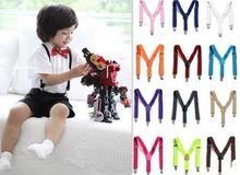 New 2015  Children Kids Boy Girls Clip-on Suspenders Elastic Adjustable Braces