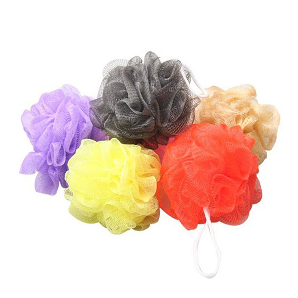 10pcs Bath Shower Body Exfoliate Puff Sponge Mesh Net Candy Colors Mesh Sponge Soft Bath Brush Sponges Scrubbers (Random Color)(China (Mainland))