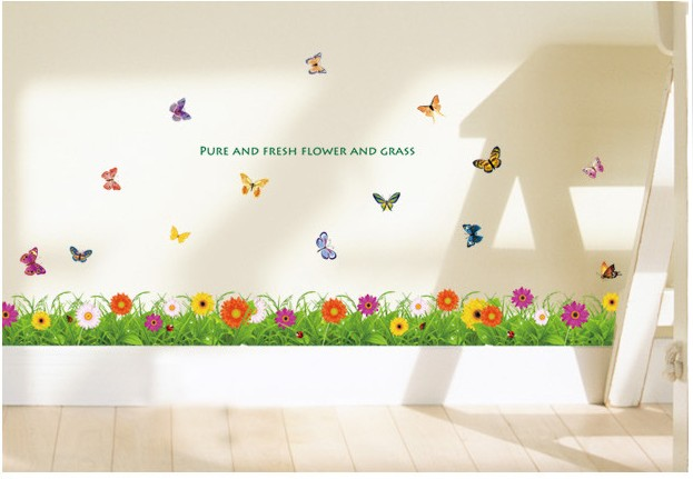 Kitchen decoration removable wall sticker kawaii skyrim for Kitchen decoration with flowers