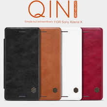 Buy Nillkin Qin Series Luxury PU Leather Case Sony Xperia X / X Dual Sim F5121 F5122 Classical Flip Cover Retail Package for $9.89 in AliExpress store