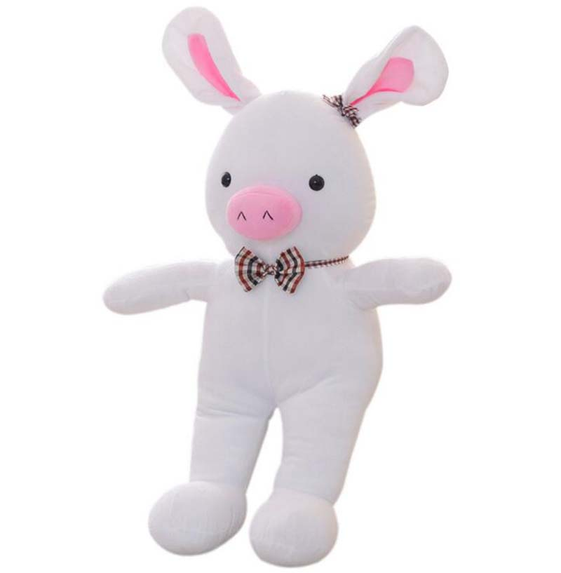 55cm Plush Pig Rabbit Creative White Stuffed Animal Toys Lovely Kawaii Plush Doll Children Kids Girls Toys Birthday Gift(China (Mainland))