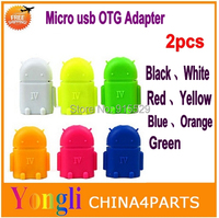 2pcs Android robot shape Micro usb to USB OTG adapter for htc smartphone,OTG adapter for tablet pc smartphone Free shipping