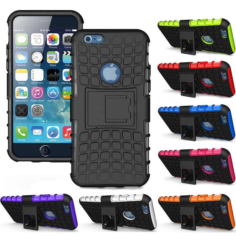 For Apple iPhone 6 Case Cover Heavy Duty Armor Hybrid Stand Hard Case For Apple iPhone 6 6S Plus 5.5'' SE 5 5S Phone Coque Funda(China (Mainland))