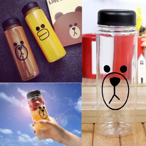 500ML Portable Clear My Bottle Sport Plastic Fruit Juice Water Cup Travel Bottle(China (Mainland))