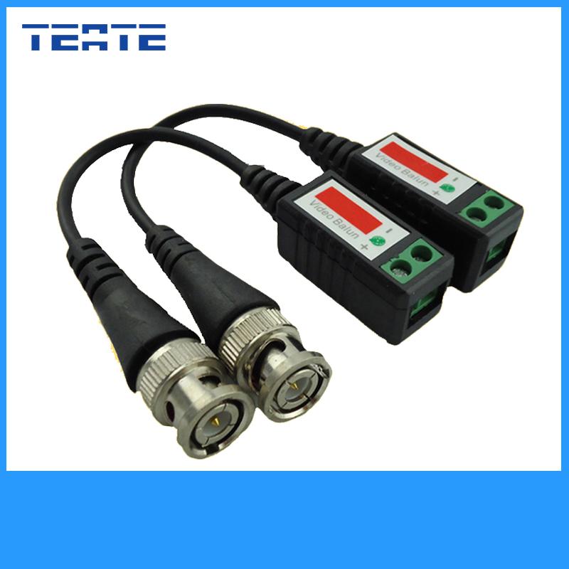 TEATE Twisted CCTV UTP Video Balun Passive Transceivers Max Distance 2000FT UTP Balun BNC Cable Cat5 CCTV Video Balun TET-G03CAB(China (Mainland))