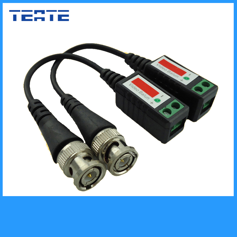 TEATE Twisted CCTV UTP Video Balun Passive Transceivers Max Distance 2000FT UTP Balun BNC Cable Cat5 CCTV Video Balun TET-G03CAB(China (Mainland))