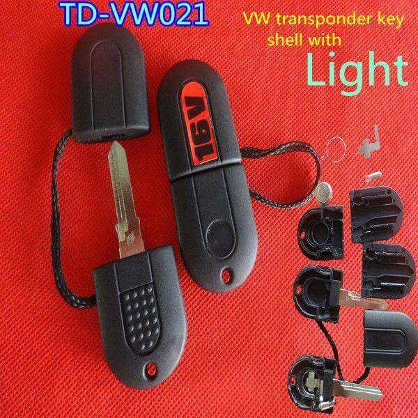 10pcs/lot vw key shell for TD-VW021 vw transponder key shell with light free HKP/China post(China (Mainland))