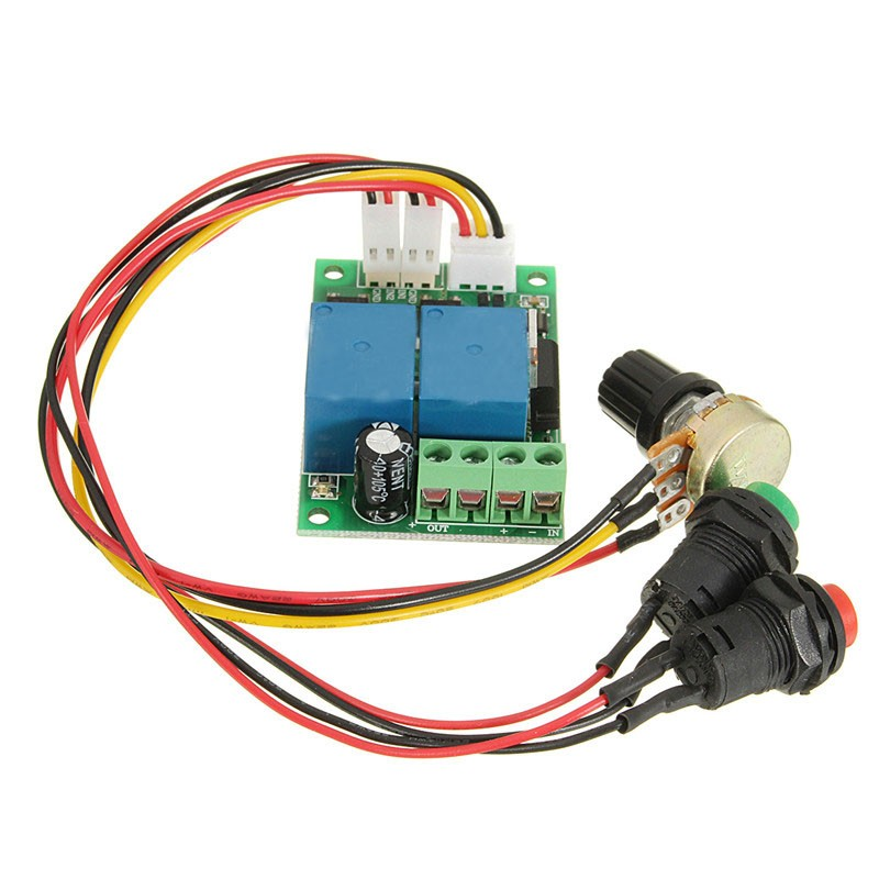 Electric Drive Pusher Linear Actuator PWM 6V-24V DC Motor Controller Motor Speed Regulator with Button and Positive Inversion(China (Mainland))