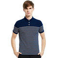 Hoffen 2017 Spring Summer Striped Polo Shirt Men Turn Down Collar Short Sleeve Cotton Polo Shirts
