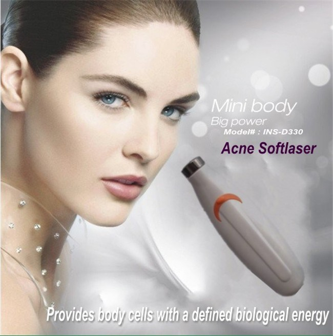 10PCS/lot Free shipping! 635-670nm handed facial skin whitening scar removing acne treatment soft laser personal beauty device(China (Mainland))