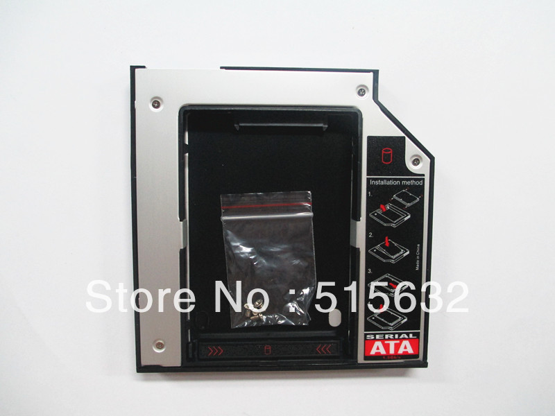 SATA to SATA 2nd HARD DRIVE DISK 12.7mm Caddy for Lenovo IdeaPad Z570 Z575 Z580<br><br>Aliexpress