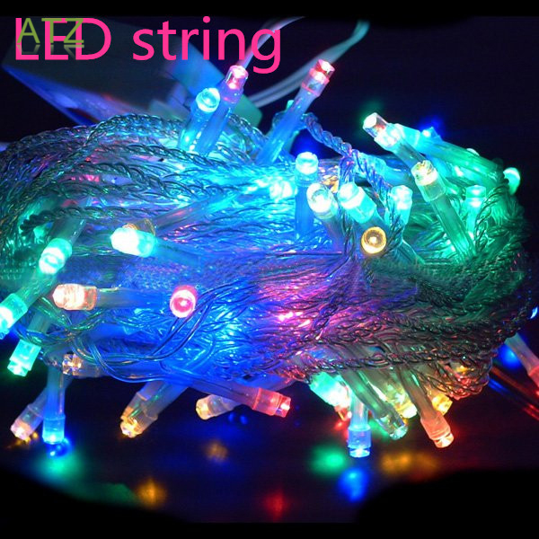 8 Modes Display Colorful 100LED 10m Led String Light for Holidays Party Wedding led Christmas Decoration Lighting Free shipping(China (Mainland))