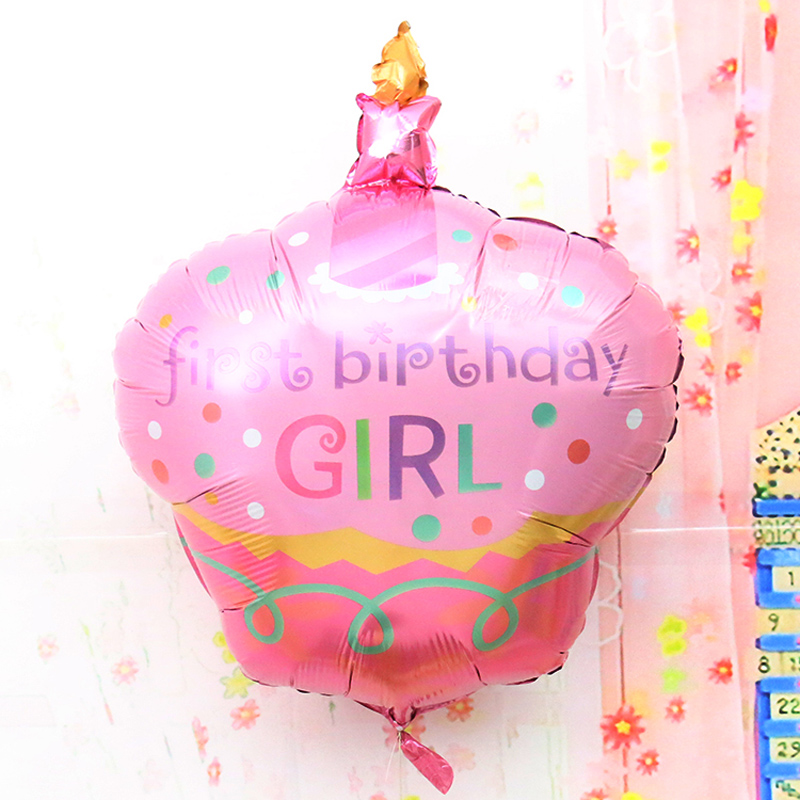 96x69cm helium foil happy birthday cheap mylar balloons birthday cake shaped party supplies baby kids birthday balloons(China (Mainland))