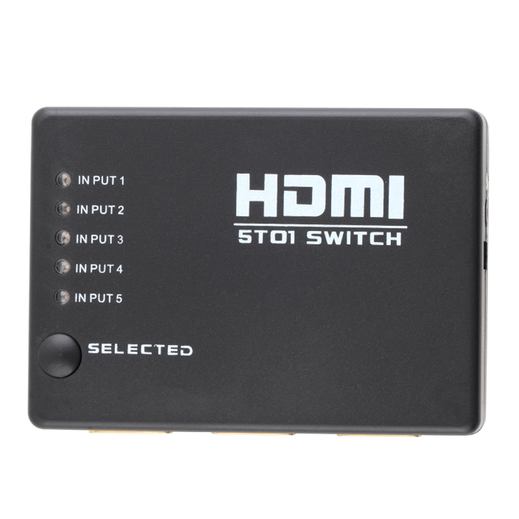 5 Port 1080P Video Mini*HDMI Switch Switcher for HDTV IR Remote new arrival high quality free Mold design(China (Mainland))