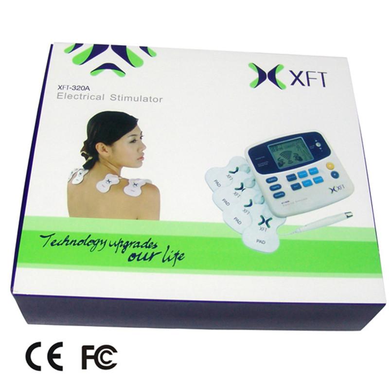 Health Care Digital Full Body Massage Dual Channel Therapy Tens Massager Machine Acupuncture Stimulator Guasha Massageador(China (Mainland))