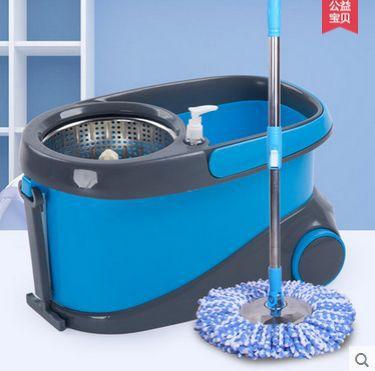 Free shipping Magic rotating mop hand press mop bucket(China (Mainland))