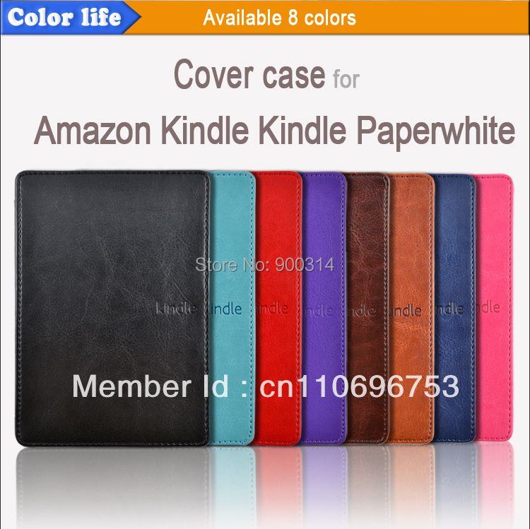 Hotsell pu leather cover case for Amazon Kindle paperwhite with hard back housing free shipping 50pcs/lot<br><br>Aliexpress
