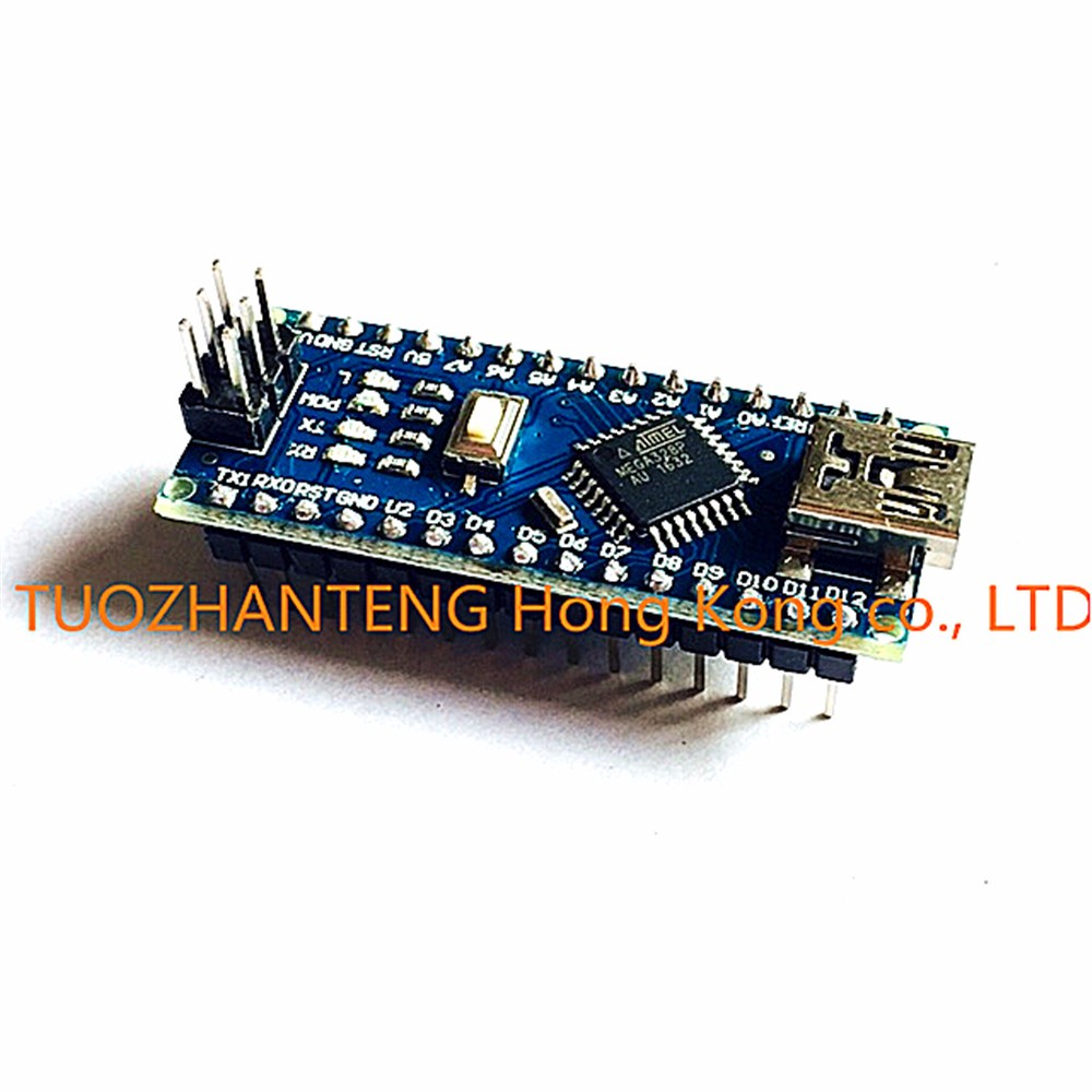 Freeshipping 5PCS Nano 3.0 controller compatible with arduino nano CH340 USB driver NO CABLE NANO V3.0