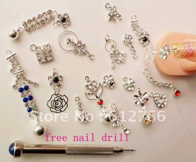 free shipping- nail art pendant nail decoration rhinestone decoration nail sticker