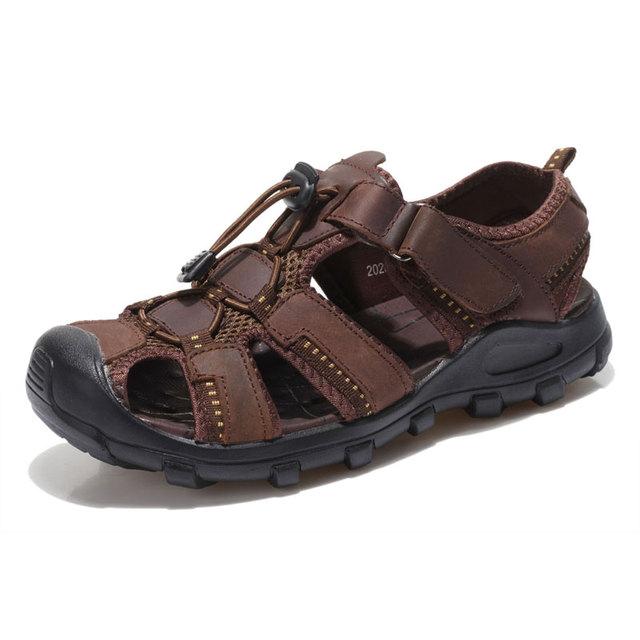 Мода летние мужчины сандалии свободного покроя летняя обувь сандалии мужчин дышащая ...