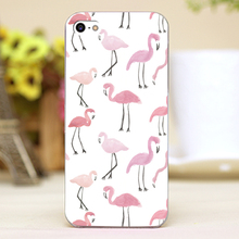 Flamingos Design Customized transparent case cover cell mobile phone cases for Apple iphone 4 4s 5 5c 5s hard shell