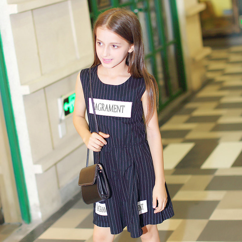 2016 Summer Baby Girls Cotton Frock Designs Dresses Kids Age 5 6 8 9 10 11 12 13 14 T Years Old Clothing Teen  -  Shally's Shop store