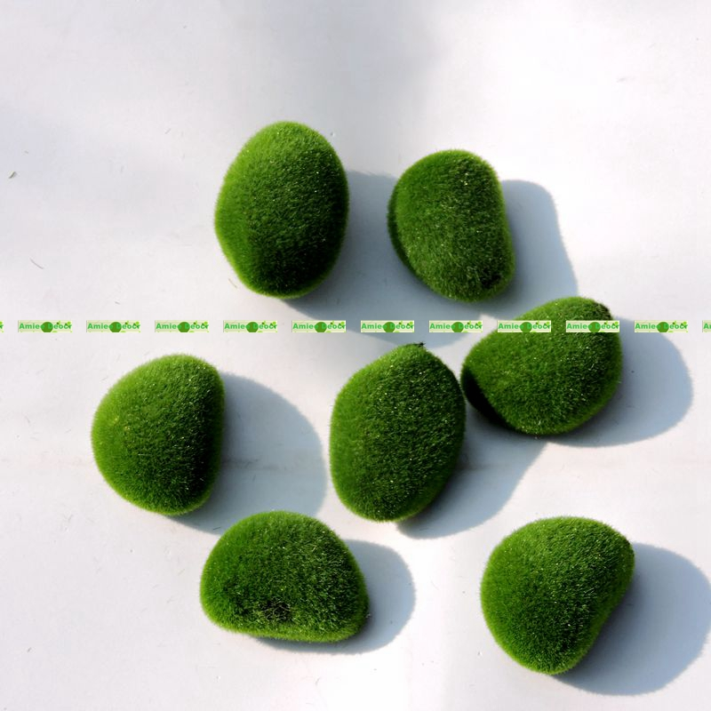 5CM Foam Artificial Bryophytes Grass Fake Moss Ball Rock Green Plant Decorative Flower Vase Wedding Home Garden Decor F520(China (Mainland))