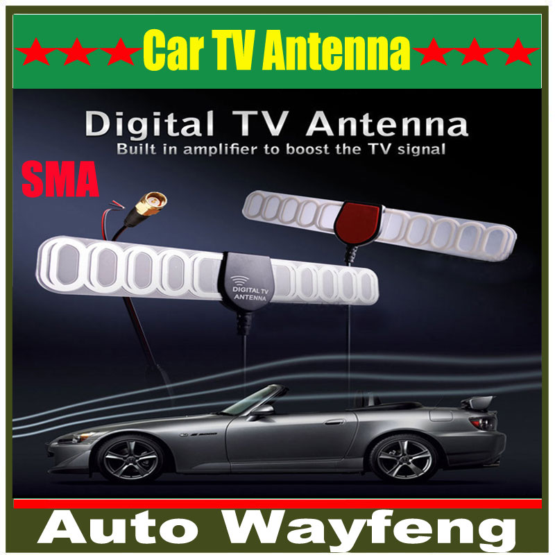 Car Digital TV Active Antenna Mobile Car Digital DVB-T ISDB-T Aerial with a Amplifier Booster Factory Selling+Free shipping(China (Mainland))