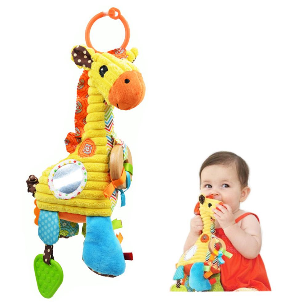 27CM Soft Newborn Baby Toys Animal Giraffe Cartoon Animal Infant Kid Gift Stuffed Plush Links Bed Cradle Strollers Hanging Doll(China (Mainland))