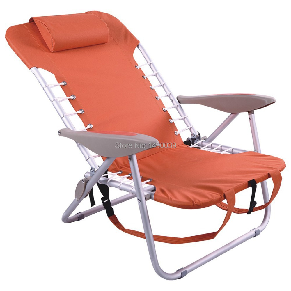 Rio Sports Ultra light Aluminum folding Backpack Chair beach chair in Folding