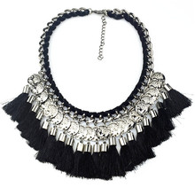 2015 Summer Fashion Hot Newest Necklaces Pendant  Knit Collar Line Tassel Statement choker Necklaces(China (Mainland))