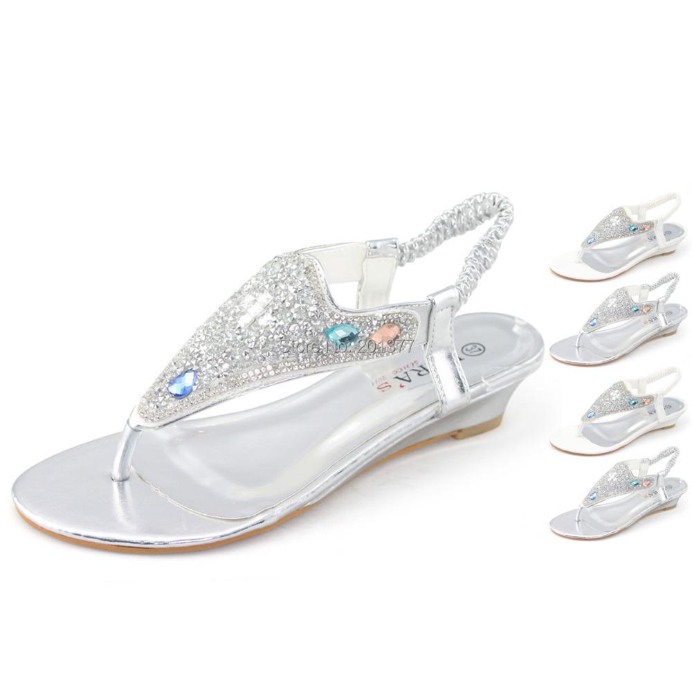 Weiße Hochzeits-Flipflops