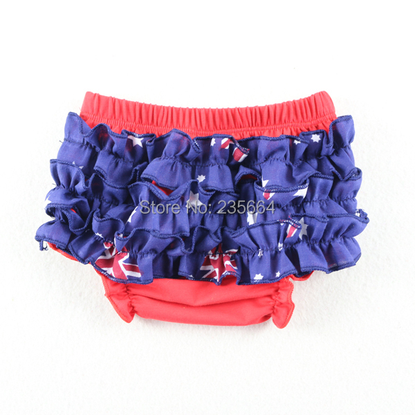 Wholesale New Australia Flag Design Unisex Cotton Ruffles Baby Bloomers Baby short pants Baby Diaper Cover Ruffle Bloomers(China (Mainland))