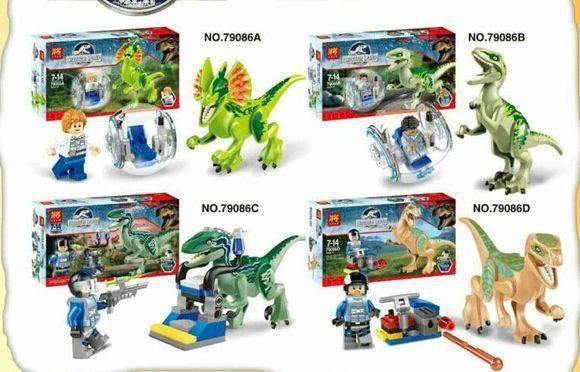 LELE 79086 Building Blocks Super Heroes Cartoon Movie Jurrassic World Minifigures Dinosaur Star Wars Bricks Mini Figures - 20144you store