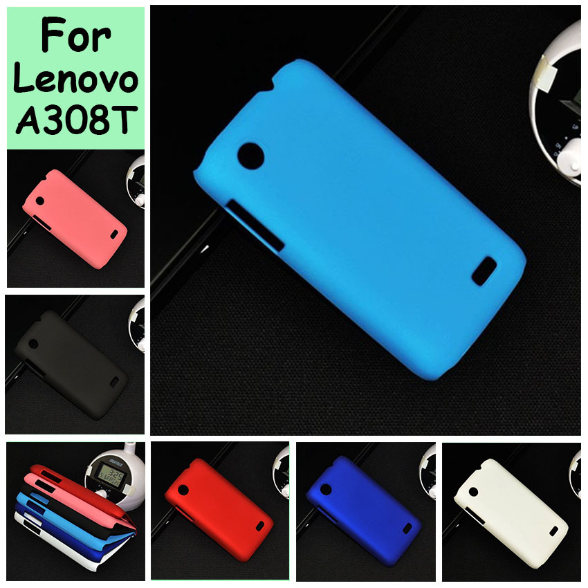 For Lenovo A369 A369I A308T Rubber Oil-painted Hard Plastic Ultra Thin cell phone case shell hood mobile phone back cover(China (Mainland))