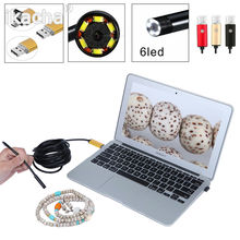 2 in 1 OTG Phone Android USB Endoscope Inspection 5.5mm Camera 6 LED HD IP67 Waterproof 2m 5m 10m 3 Color(China (Mainland))