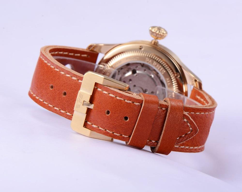 Мода 42 мм Parnis Сапфир Корпус Из Нержавеющей Стали Япония Автоматическое Движение Мужские Наручные Часы