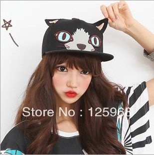 Wholesale 5pcs/lot Free shipping 2013 caps Hot baseball cap sports hip-hop cap fashion embroidery cartoon cats pattern caps hatsОдежда и ак�е��уары<br><br><br>Aliexpress