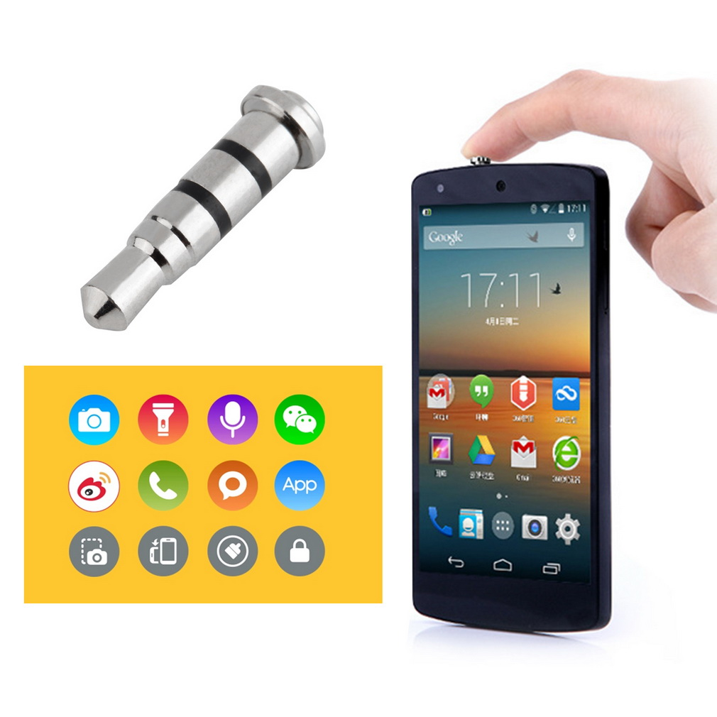 3.5mm Smart Key Button Dustproof Headset Dust Plug for Android Smartphone(China (Mainland))