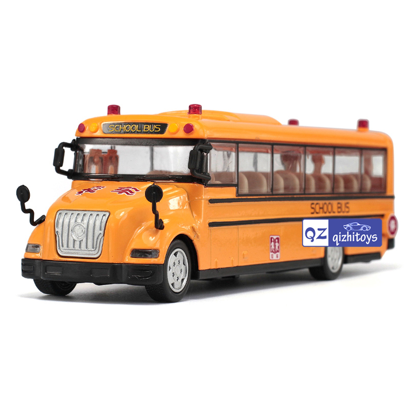 High simulation School bus scale alloy pull back School bus model Diecast bus cars toy Children's gift 1:32(China (Mainland))