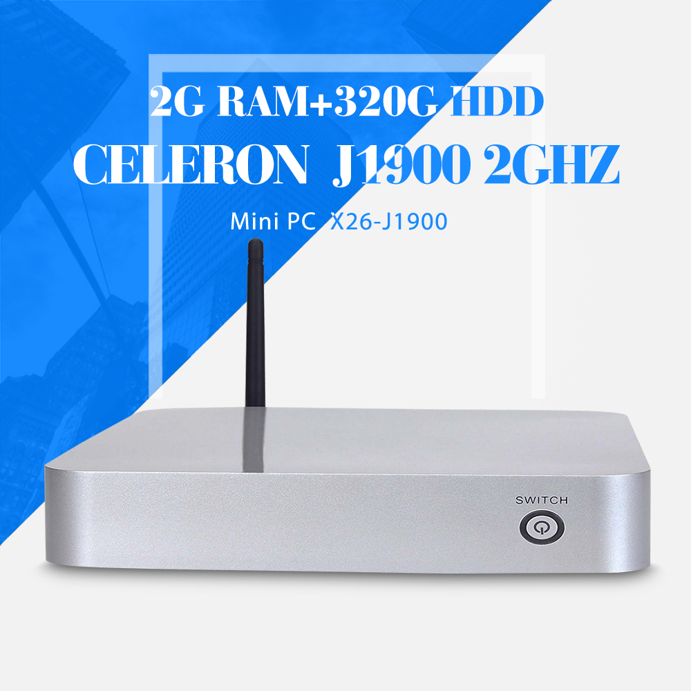 Fan industrial mini desktop computer celeron J1900 2gb ram 320gb hdd+wifi mini desktop pc deluxe computer mini pc thin client(China (Mainland))