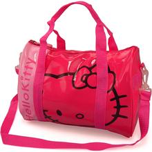 Cute cartoon Hello kitty patent leather travel bags female women's ladies girl handbags Messenger Shoulder Bag,travel duffle(China (Mainland))