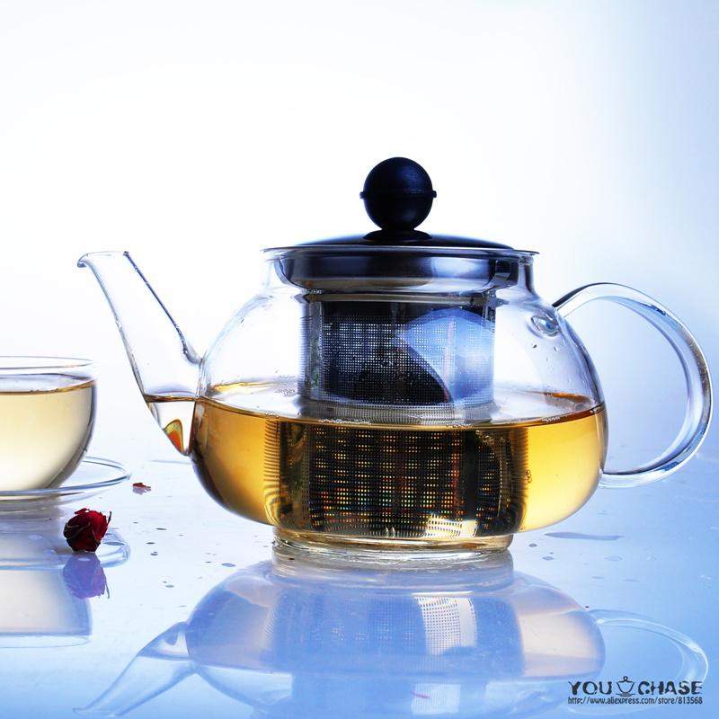 700ML Glass Kettle/Teapot/Tea Pot/ Pot Stainless Steel Teapot Flower Tea Green Tea Best Companion(China (Mainland))