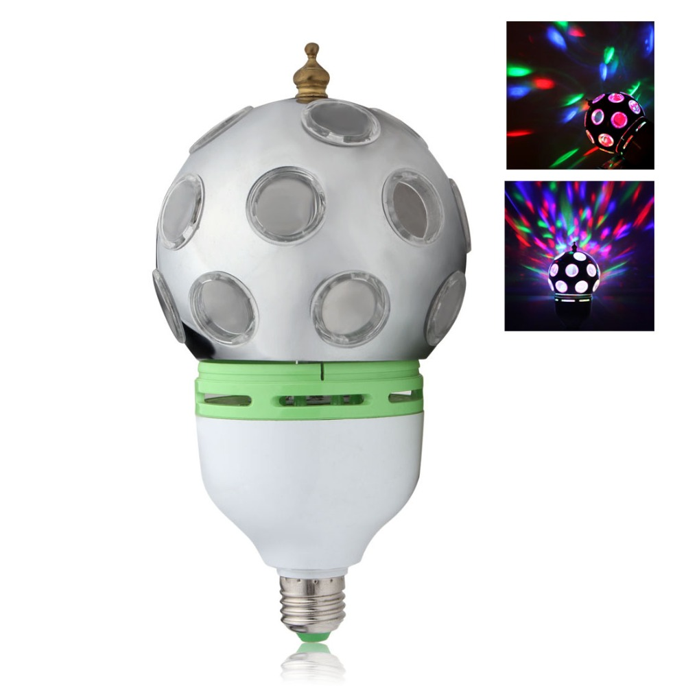 hot Red AC 85 - 265V B22 / E27 RGB Color Crystal Auto Sound Activated Magic Ball Rotating Lamp LED Light Bulb For Party Pub(China (Mainland))