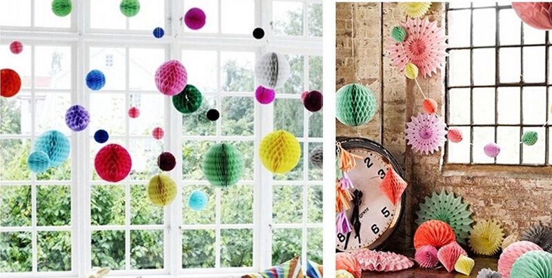 "8"" Party Lanterns Decoration Tissue Paper Honeycomb Balls Wedding Table(China (Mainland))"