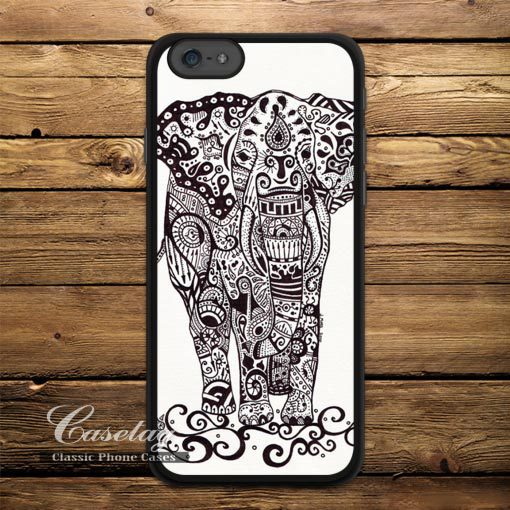 Tribal Floral Elephant Protective Case For Apple iPhone 6 6 Plus 5 5s 5C 4 iPod 5 Totem Phone Cover Free Shipping(China (Mainland))