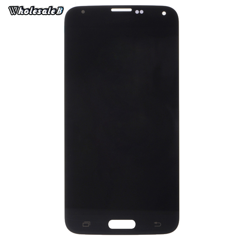 Black LCD Display Digitizer Assembly For Samsung S5 Touch Screen Digitizer For Samsung i9600 G900A With LOGO SAM529