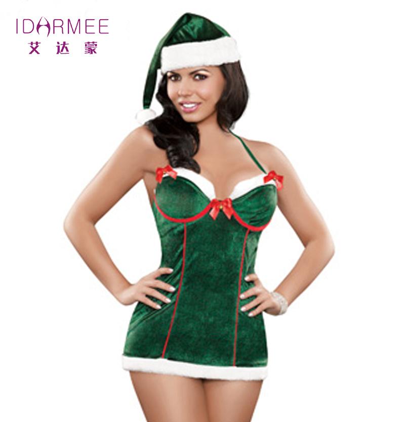 IDARMEE Women Adult Christmas Mrs Miss Santa Fancy Dress Xmas Outfit Ladies Sexy Christmas Costume Free Shipping S6114(China (Mainland))